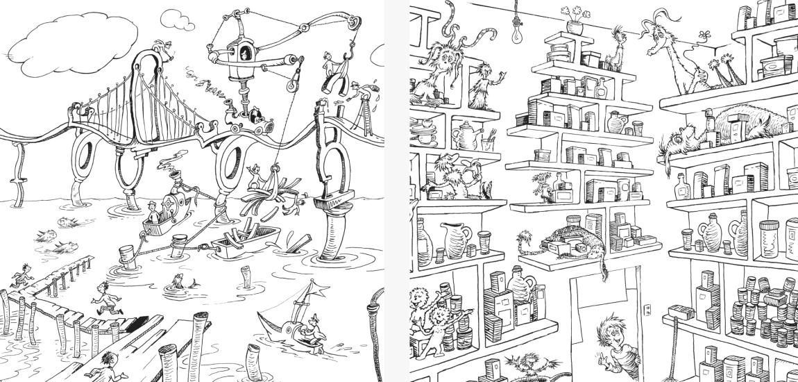 The Dr Seuss Coloring Book   Popmule
