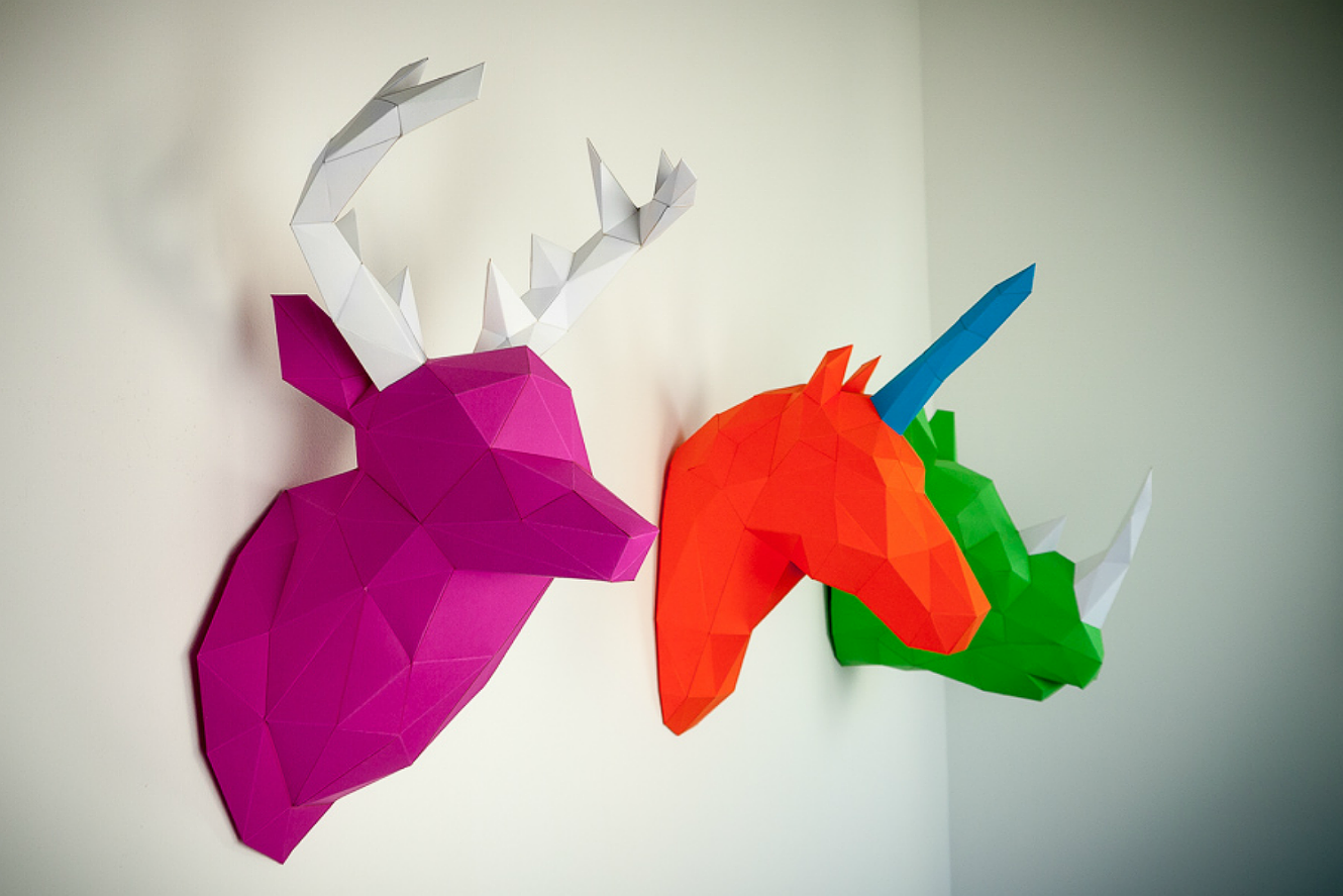 Image of Papertrophy – Paper Animal Trophies