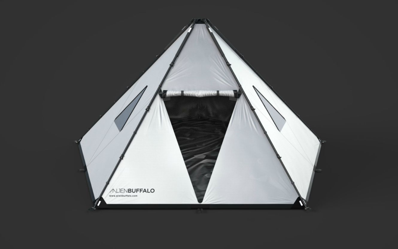 Image of Triangular Pyramid-like Dwelling – Alien Buffalo Tent
